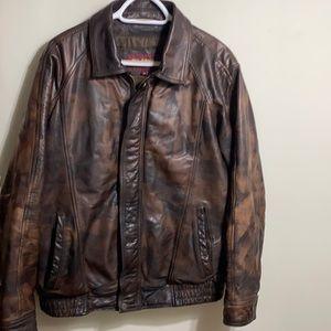 Vintage Wilsons distressed brown leather jacket